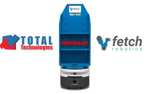 Total Technologies<sup>®</sup> proposes the Autonomous Mobile Fetch HMIShelf Robot!