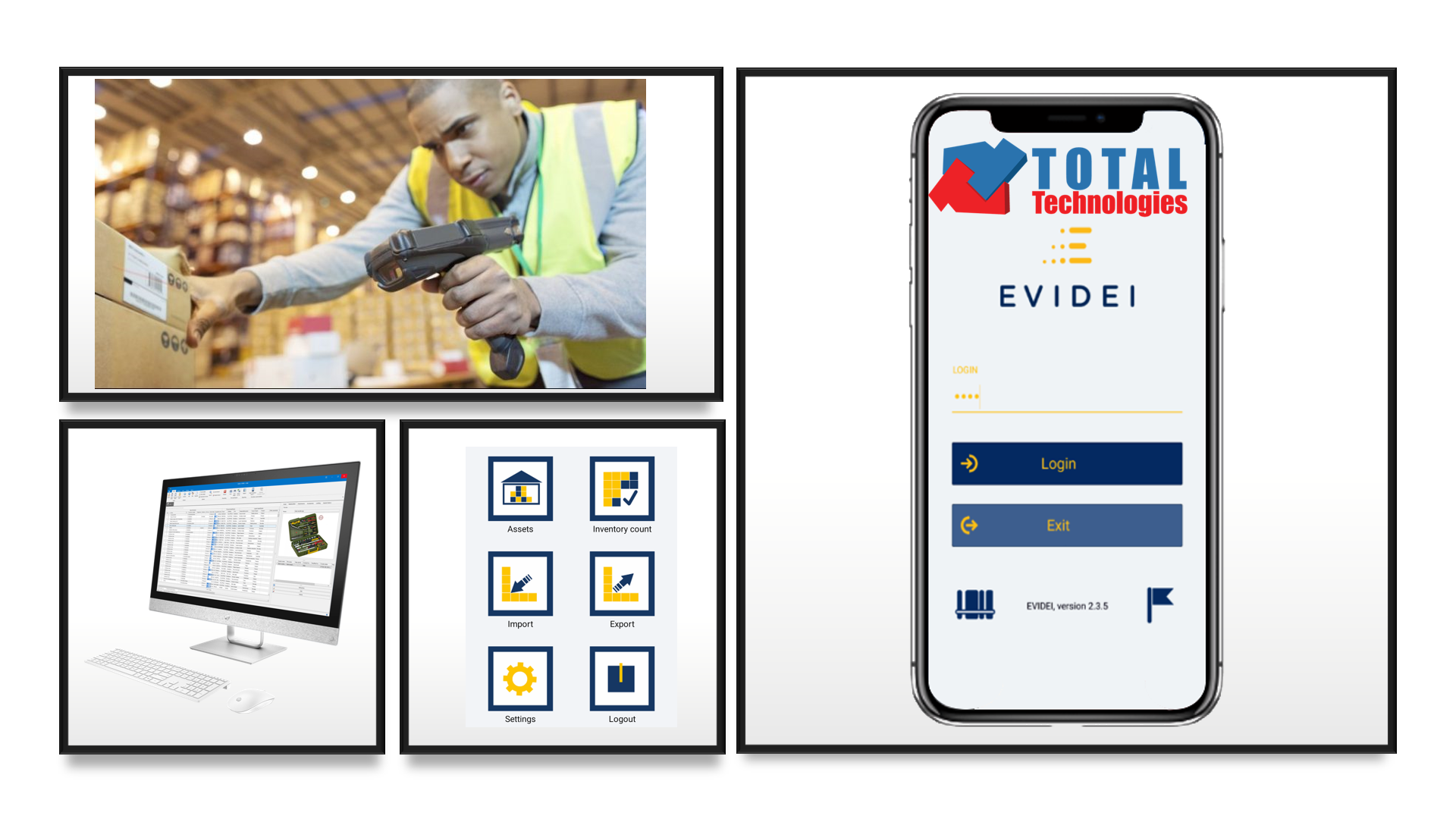 Total Technologies<sup>®</sup> adds to the portfolio the fixed assets inventory solution by Evidei (assets management)